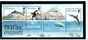 Gibraltar MNH S/S 764 Year Of The Ocean Marine Life 1998 SCV 7.75