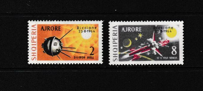 ALBANIA - 1964 SPACE OVERPRINTS - SCOTT C73 TO C74 - MNH