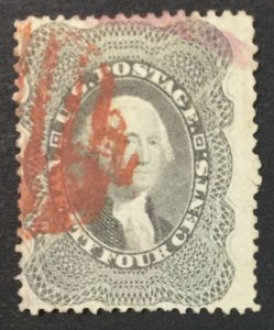 MOMEN: US STAMPS #37 USED LOT #44858