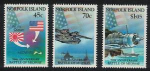 Norfolk 50th Anniversary of Battle of Midway 3v SG#531-533