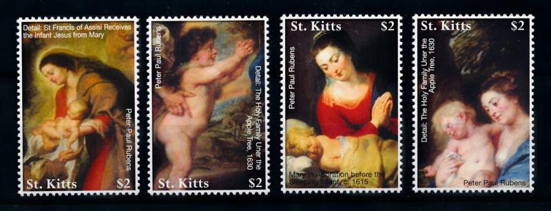 [76455] St. Kitts 2006 Painting Rubens Christmas From Sheet MNH