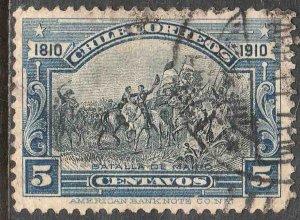 Chile 86, 5c Battle of Maipu CENTENNIAL. Used. F. (551)
