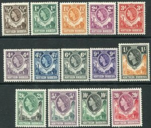 NORTHERN RHODESIA-1953 Set to 20/- Sg 61-74 LIGHTLY MOUNTED MINT V35927