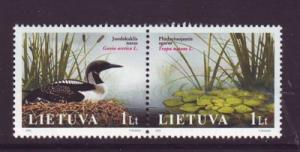 Lithuania Sc798 2005 Flora Fauna Red Book stamps NH