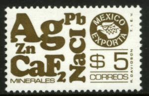 MEXICO Exporta 1120a $5P Minerals P 11 1/2 Fluor Paper 8 MNH. VF.
