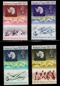 British Antarctic Territory (BAT) Scott 39-42 MH* Antarctic Treaty 10th Anniv.