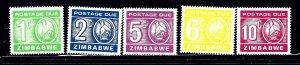 Zimbabwe J20-24 MNH 1981 set    (ap1431)