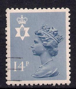 Northern Ireland GB 1981 QE2 14p Grey/blue Machin SG NI 38 ( J433 )
