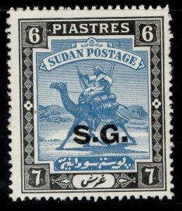 SUDAN GVI SG O40b, 6p greenish blue & black, M MINT. Cat £15.