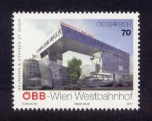 Austria Sc# 2350 MNH Vienna Western Railway Station