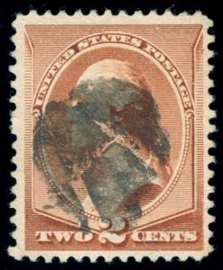 MOMEN: US STAMPS #210 USED FANCY CANCEL PSE CERT