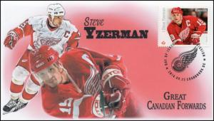 CA16-041, 2016, FDC, Canadian Forwards, Steve Yzerman, Day of Issue,