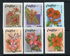 Cape Verde Scott 416-21 MNH! Flowers!
