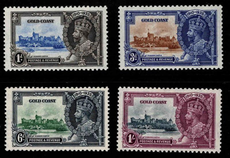 GOLD COAST Scott 108-111 MH* 1935 Silver Jubilee set  CV $26.75