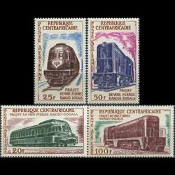 CENTRAL AFRICA 1963 - Scott# C13-6 Locomotives Set of 4 LH