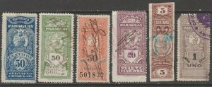 Paraguay Cinderella mix Revenue fiscal collection stamp ml100 as seen