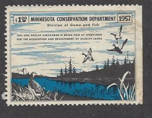 United States, A1, Minnesota State Duck Hunting Permit Single, **LH** #1