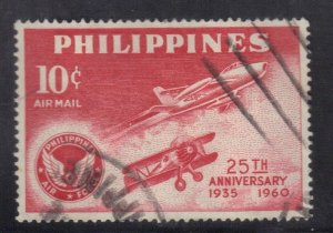 PHILIPPINES SC# C83  USED 10c  1960  AIRMAIL  SEE SCAN