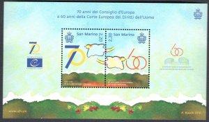 2019 San Marino Sheet of Stamps  60° Short European' -  70° Cosiglio Europa'
