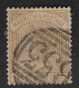 MAURITIUS Scott 74 Used Queen Victoria 1883 CA wmk 2