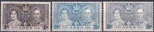 Aden #13-5 MNH  CV $2.70  (Z9634)