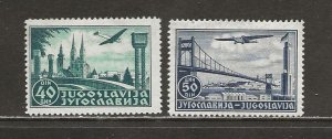 Yugoslavia Scott catalog # C15-C16 Unused Hinged See Desc