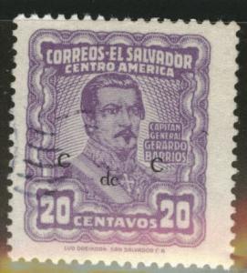 El Salvador Scott 650 Used 1953 stamp