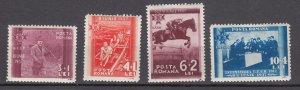 J27555 1937 romania hv,s of set mh #b73-6 sports