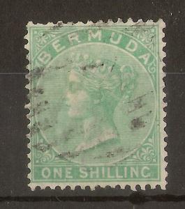 Bermuda 1865 1/- SG8 Fine Used Cat£70