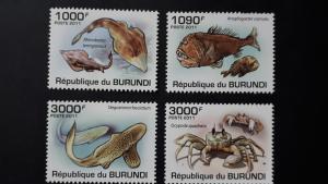 Burundi 2011. - Marine life ** MNH complete set (perforated)