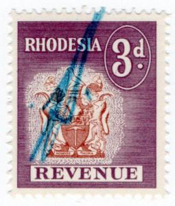 (I.B) Rhodesia Revenue: Duty Stamp 3d
