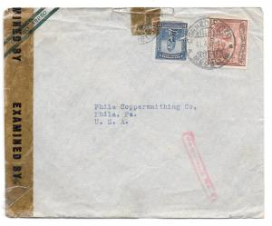 Colombia Censored Cover WWII Medellin to US Boxed Taquilla
