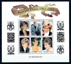[95345] Lesotho 1998 Royalty Princess Diana Sheet MNH