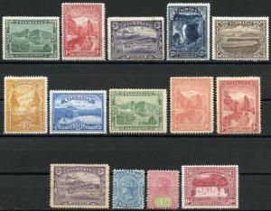 TASMANIA SCOTT#86/93  MINT HINGED ORIGINAL GUM