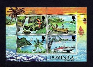 DOMINICA - 1971 - QE II  - TOURISM - BOAT - SAILING - WATERFALLS + MNH S/SHEET!