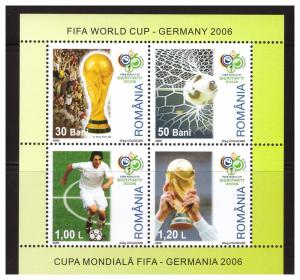 Romania MNH S/S FIFA World Cup Soccer Germany 2006