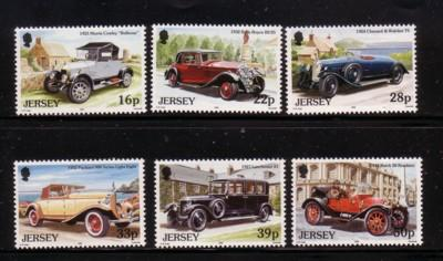 Jersey  Sc 604-9 1992 Classic Cars stamps mint NH