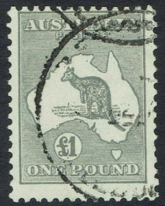AUSTRALIA 1931 KANGAROO 1 POUND WMK C OF A USED