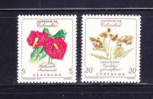 Colombia 716-717 Set MHR Flowers (A)