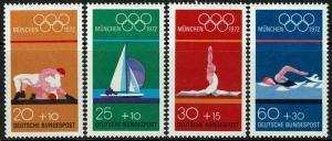 Germany B485-B488 MNH - Olympics (1972)