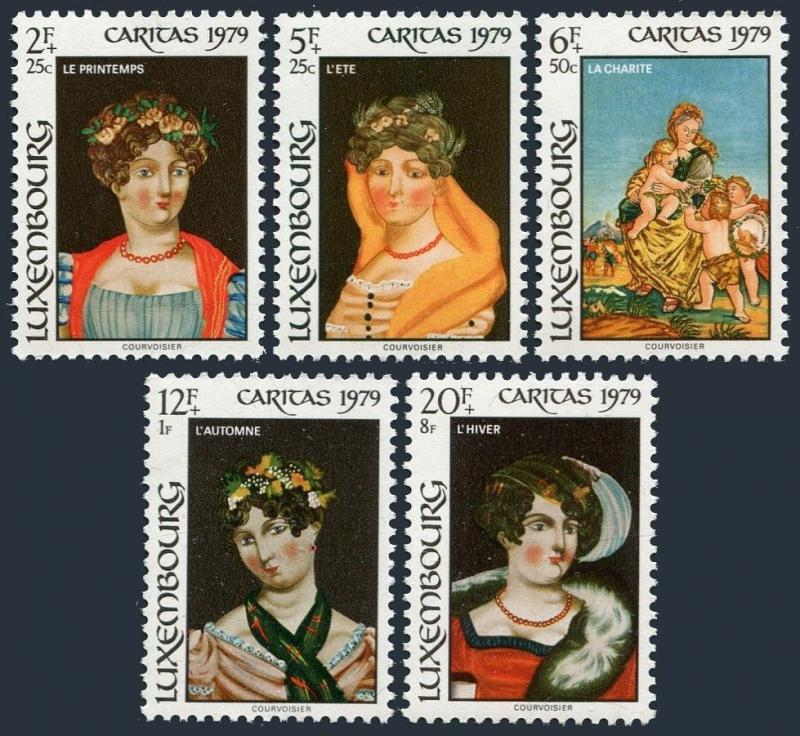 Luxembourg B323-B327,MNH.Michel 998-1002. Behind-glass Paintings,1979.