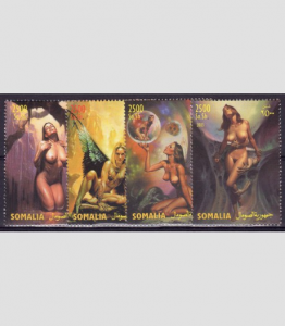 SOMALIA 2003 Boris Vallejo Fantasy Art Set (4v) Perforated mnh.vf