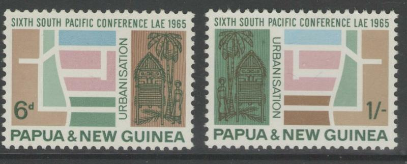 PAPUA NEW GUINEA SG77/8 1965 SOUTH PACIFIC CONFERENCE MNH