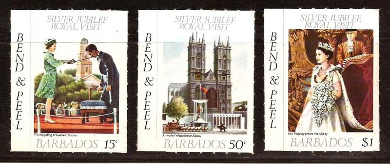 Barbados  #  452 - 54  Mint  N H .        A