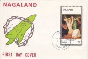 Nagaland - Painting Souvenir Shet on a Cacheted First Day Cover