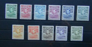 Basutoland 1938 set to 10s MM SG18 - SG28