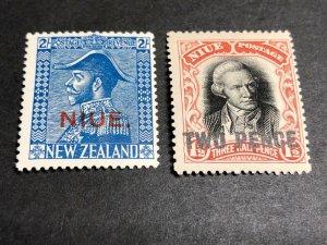 Niue Scott 47 48 Mint OG CV $23.25