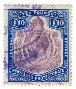 (I.B) Nyasaland Revenue : Duty Stamp £10