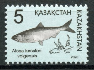 Kazakhstan Fish Stamps 2020 MNH Volga Shad Red Book Fishes 1v Set