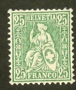 SWITZERLAND 55 MH SCV $1.60 BIN $.75 HELVETIA